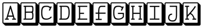 FeggoliteKeyed Font LOWERCASE