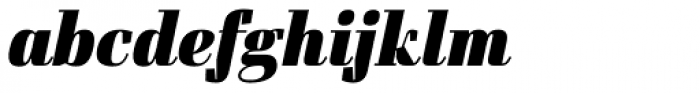 Felis Italic Black Font LOWERCASE