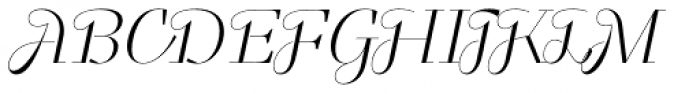 Felis Script Thin Font UPPERCASE