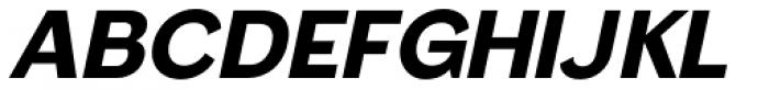 Femi Oblique SRF Font UPPERCASE