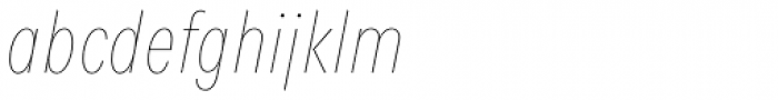 Fenomen Sans XCN Hairline Italic Font LOWERCASE