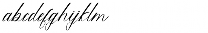 Feraldine Script Regular Font LOWERCASE