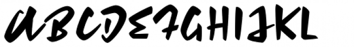 Feris Script Font UPPERCASE