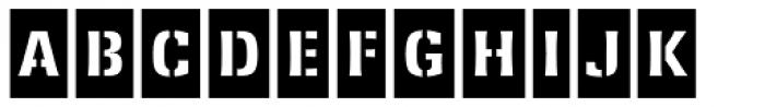 Ferro Stencil AI Bold Neg Font UPPERCASE