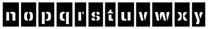 Ferro Stencil AI Bold Neg Font LOWERCASE