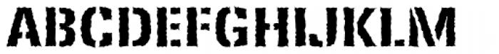 Ferro Stencil EF Bold Rough Font UPPERCASE