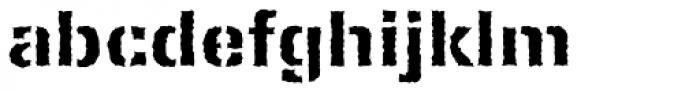 Ferro Stencil EF Bold Rough Font LOWERCASE