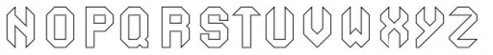 Ferrocarbon Hollow Font UPPERCASE