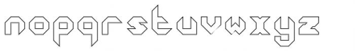 Ferrocarbon Hollow Font LOWERCASE