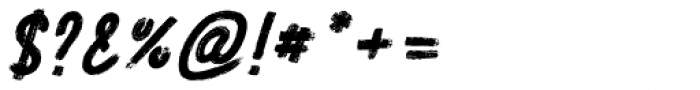 Festa Brush Bold Italic Font OTHER CHARS