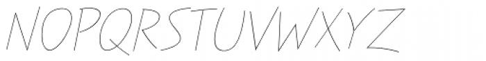 Festa Light Italic Font UPPERCASE