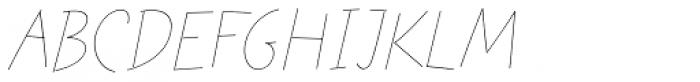Festa Light Italic Font LOWERCASE