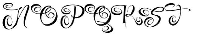 Festive Five Font UPPERCASE