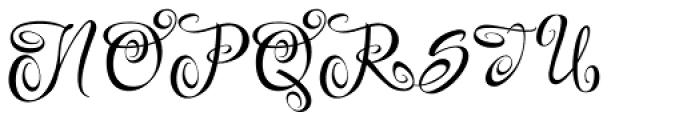 Festive Nine Font UPPERCASE