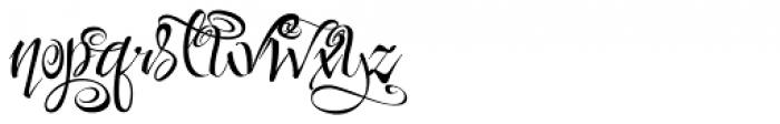 Festive Nine Font LOWERCASE