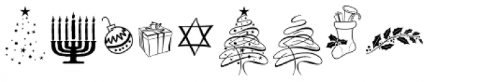 Festive Ornaments Font OTHER CHARS