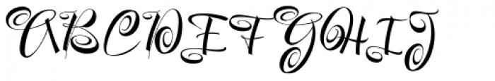 Festive Pro Font UPPERCASE