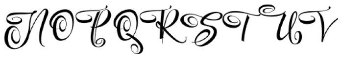 Festive Seven Font UPPERCASE