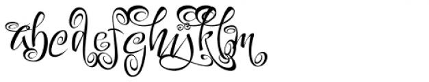 Festive Seven Font LOWERCASE