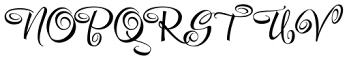 Festive Six Font UPPERCASE