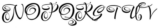 Festive Ten Font UPPERCASE
