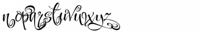 Festive Ten Font LOWERCASE