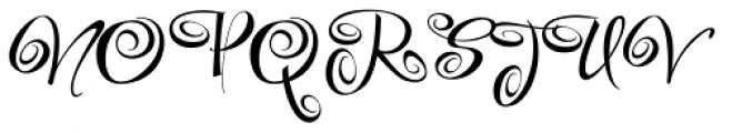 Festive Three Font UPPERCASE