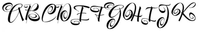 Festive Font UPPERCASE