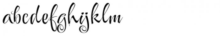 Festive Font LOWERCASE