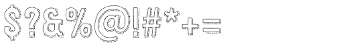 Festivo LC Outline Dots Font OTHER CHARS