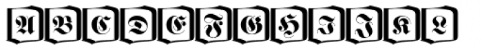 Fette Fraktur Initials D Font UPPERCASE