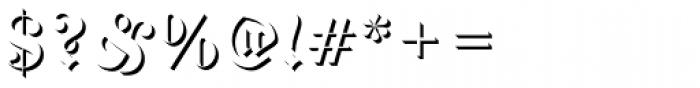 Fette Fraktur Only Shadow D Font OTHER CHARS