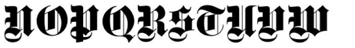 Fette Gotisch Pro Regular Font UPPERCASE