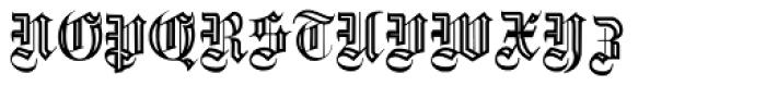 Fette Gotische Maiuskel Handtooled Font UPPERCASE