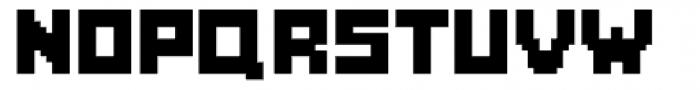 Fette Pixel Font UPPERCASE