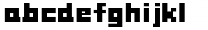 Fette Pixel Font LOWERCASE