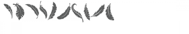 feathers doodlebat Font OTHER CHARS