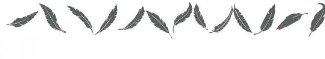 feathers doodlebat Font UPPERCASE