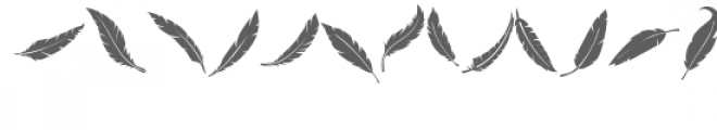 feathers doodlebat Font LOWERCASE