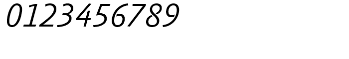 FF Absara Sans Light Italic Font OTHER CHARS