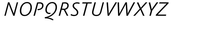 FF Absara Sans Light Italic Font UPPERCASE