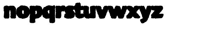 FF Advert Rough Five Font LOWERCASE