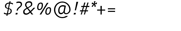 FF Balance Light Italic Font OTHER CHARS