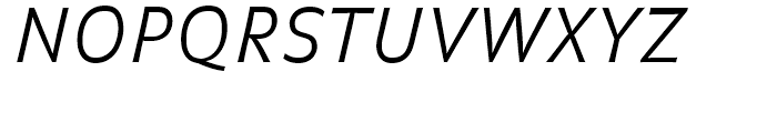 FF Balance Light Italic Font UPPERCASE