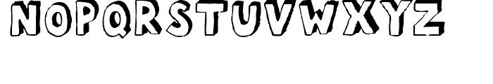 FF Bokka Shadow Regular Font UPPERCASE
