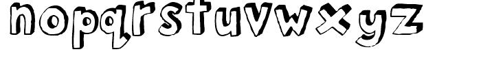 FF Bokka Shadow Regular Font LOWERCASE