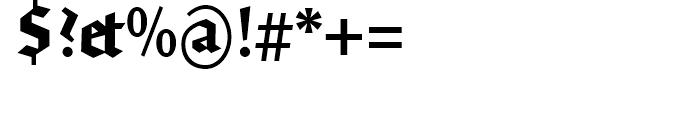 FF Brokenscript Condensed Bold Font OTHER CHARS