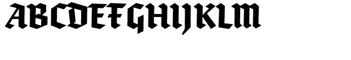 FF Brokenscript Condensed Bold Font UPPERCASE