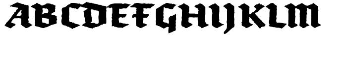FF Brokenscript Rough Bold Font UPPERCASE