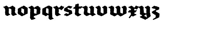 FF Brokenscript Rough Bold Font LOWERCASE